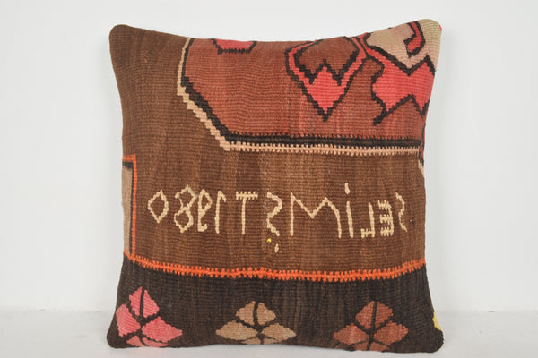 Kilim Pillow Etsy A00554 24x24 Novelty Design Regular Hippie Geometric