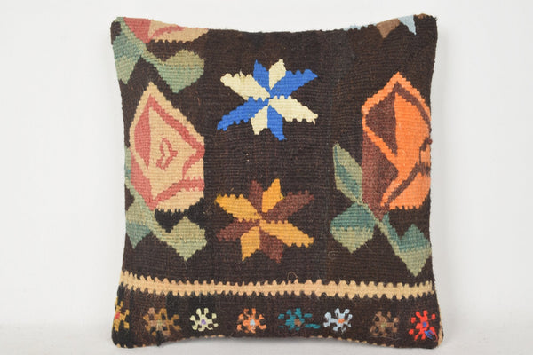 Kilim Pillow Grey C00254 18x18 Great Hand crafted Unusual