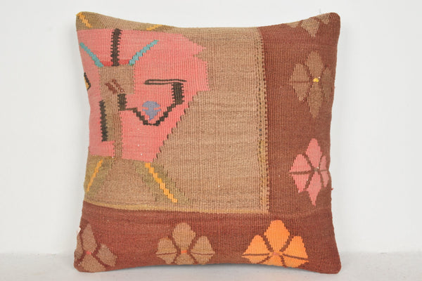 Kilim Rugs Morocco Pillow B00154 20x20 Embroidered Rich Art