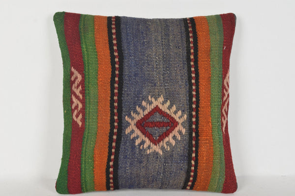 Kilim Accent Pillows D00355 16x16 Ethnic Cross-stitch Historic