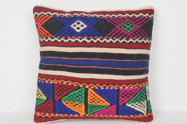 Shabby chic Turkish Kilim Pillow Cover 16x16