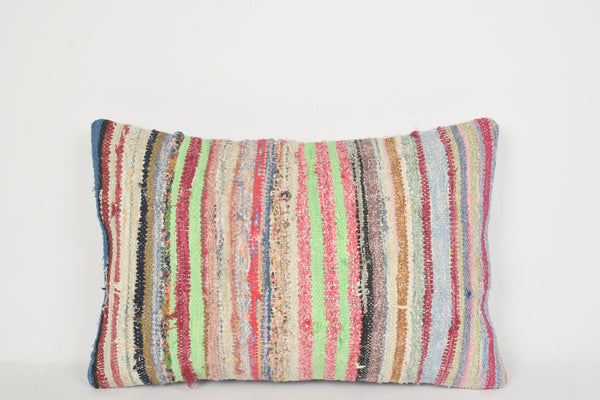 Kilim Woven Throw Pillow E00256 Lumbar Hand Crafted Private Decor