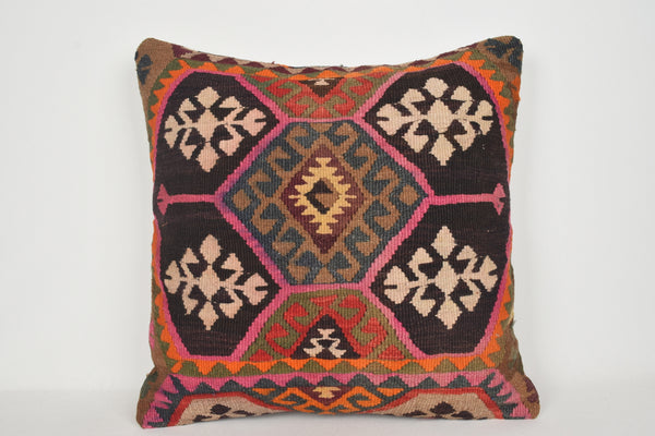 Turkish Kilim Pillows Wholesale A00156 24x24 Rustic pillow covers Unusual throw pillow cover