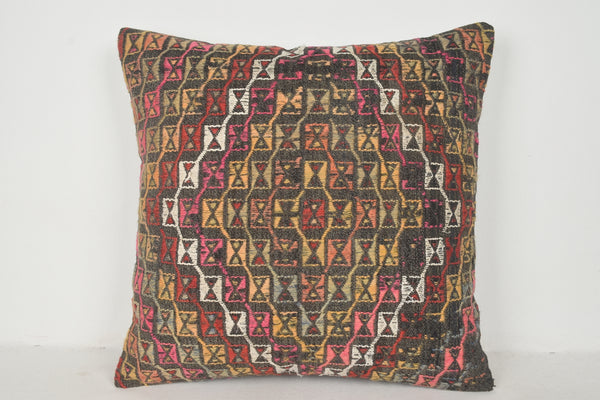 Brown Kilim Cushion A00357 24x24 Ornament Knotted Normal Casual