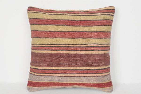 Normal Turkish Kilim Private Pillow Needlepoint 16x16 Cover