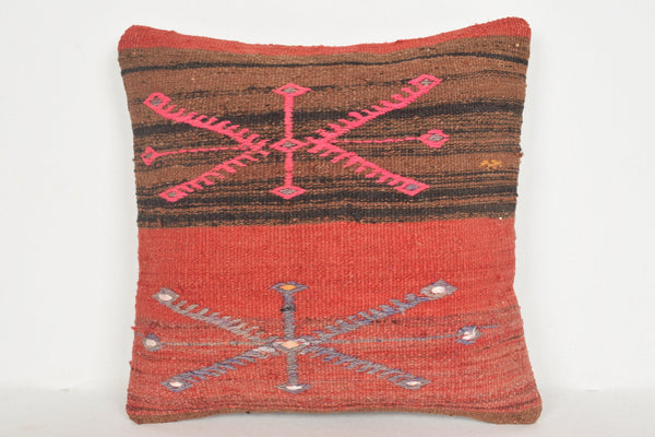 Moroccan Kilim Rug Pillow D01257 16x16 Chair Christmas Culture