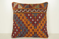 Kilim Moroccan Rugs Pillow B02257 20x20 Middle East Body Crochet