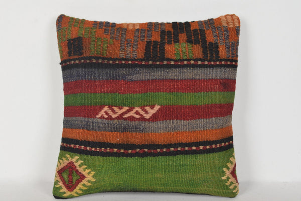 Inexpensive Kilim Pillow Covers D00358 16x16 Nomad Antique Lace