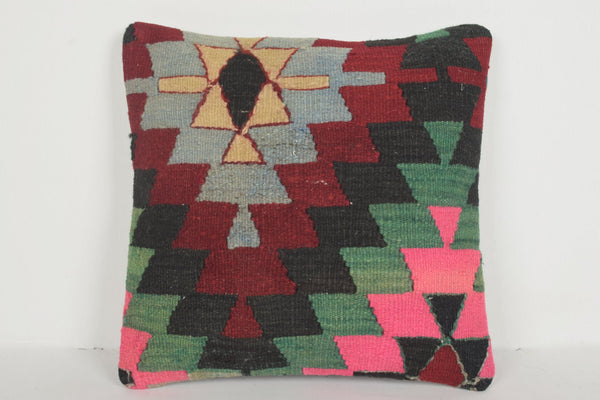 Turkish Ladik Rug Pillow D02258 Furnishing Tribal Inexpensive Regular