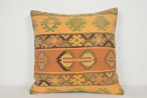 Kilim Bench Cushion A00459 24x24 Urban Folk art Knotted Technical
