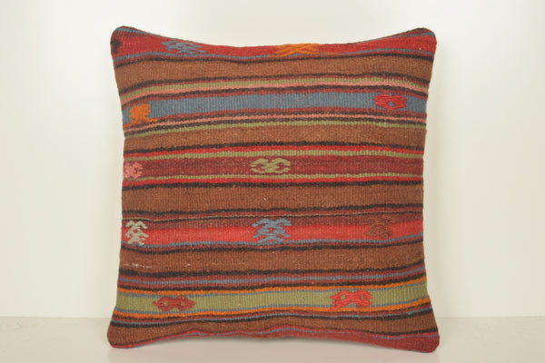 Kilim Floor Cushions Australia C01659 18x18 Pretty Beautiful Ethnic Mexican