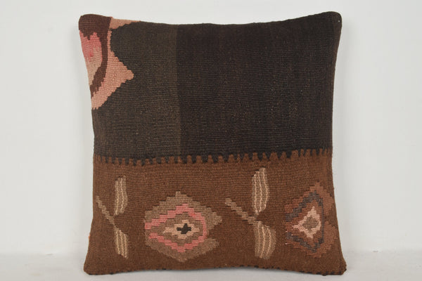 Kilim Muted Rug Pillow B00260 20x20 Precious Art Shop
