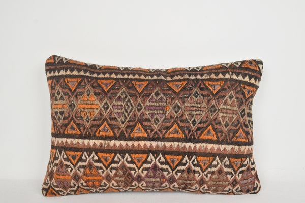 Kilim King Pillowcase E00060 Lumbar Cottage Geometric Fine Woven