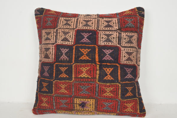 Kilim Rug Pillow Covers A00560 24x24 Primitive Gypsy Textile