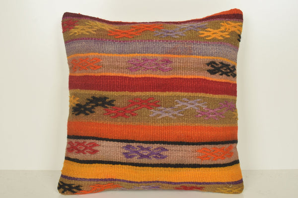 Kilim Patchwork Pillow C01061 18x18 Knitting Retail Classic