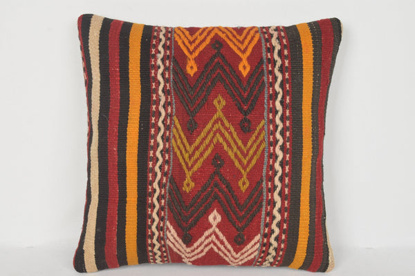Professional Turkish Decor Kilim Regular Pillow Hand Woven Cover Moroccan 16x16