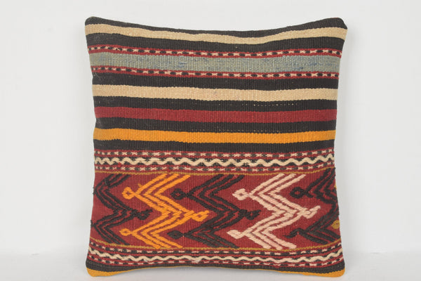 Special Turkish Geographical Kilim Pillow Garden Cover Aztec 16x16