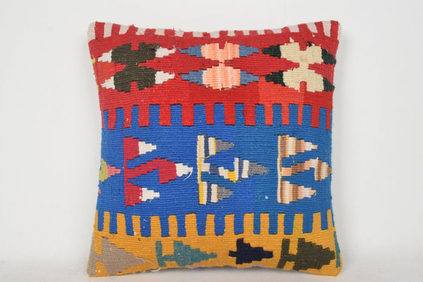 Kilim Cushions Ebay UK C00162 18x18 Modular Embroidered Good