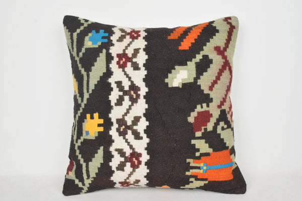 Peach Kilim Pillow A00062 24x24 Handwoven Ethnic Sofa Livingroom
