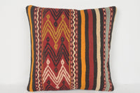 Turkish Kilim Pillow 16x16 Rustic pillowcase Needlepoint pillow case
