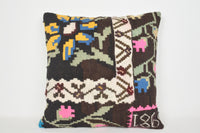 Kilim Tapestry Pillow A00064 24x24 Embroidery Wool Casual Tuscan