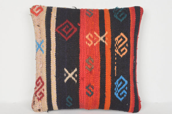 Eclectic Turkish Sofa Kilim Knitting Pillow Gypsy 16x16 Cover