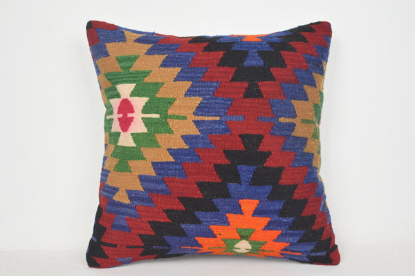 Moroccan Kilim Floor Cushion A00065 24x24 Tradition Crochet Wholesale