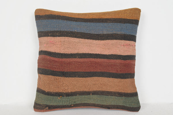Kilim Woven Pillows D00565 16x16 Woven Eclectic Western