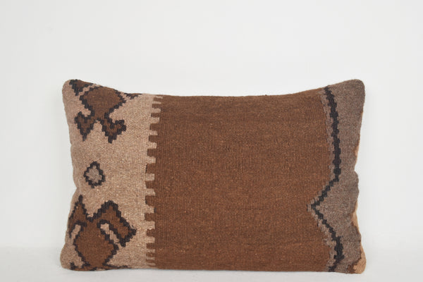 Long Kilim Lumbar Pillow E00066 Neutral Decorator Culture Southern