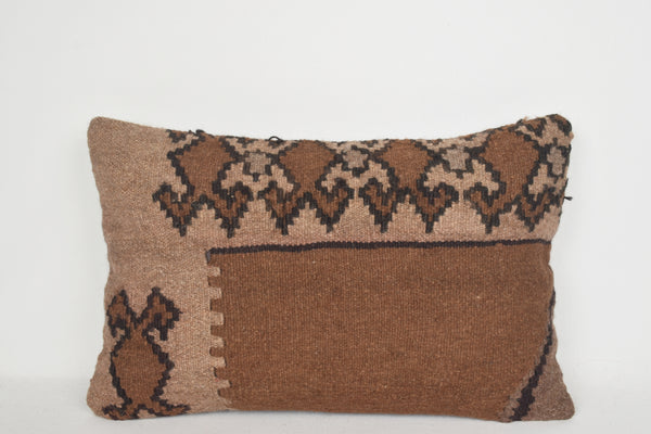 Kilim Outdoor Pillows E00067 Lumbar Knit Traditional Moroccan