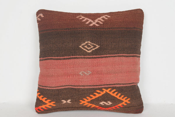 Kilim Rug Identification Pillow D00668 16x16 Geometric Accessory