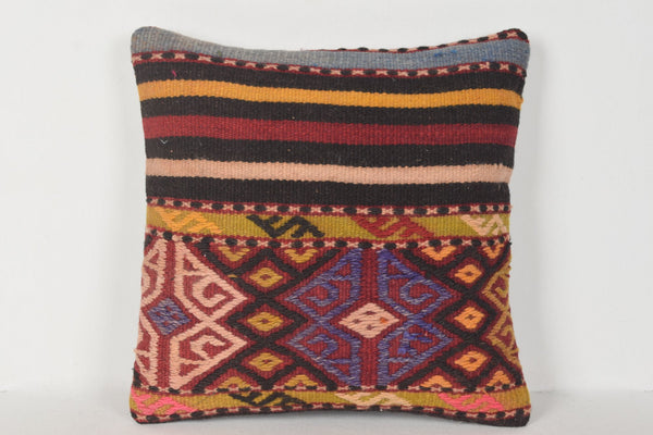 D00299 Turkish Pillow Cover 16x16, Retro cushions 16x16, Oriental pillow covers 16x16