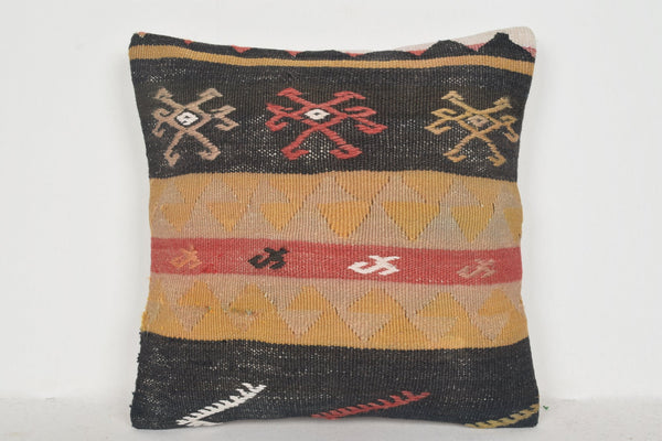 Decorative Boho Floor Pillow D01169 16x16 Cotton Historical Eastern