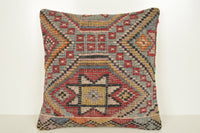 Turkish Rug Natural Dyes Pillow B02207 20x20 Special House