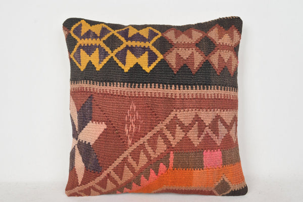 Kilim Rug Cushions C00371 18x18 Historic Village Cool