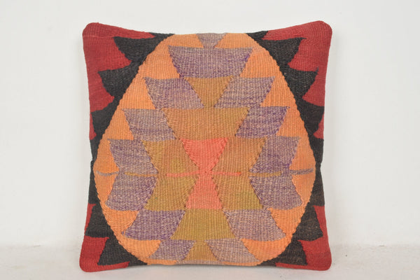Buy Turkish Rug Pillow C00471 18x18 African Flat weaving European