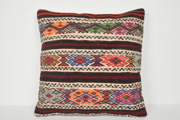 Kilim Body Pillow Cover A00672 24x24 Ethnic Folkloric Designer