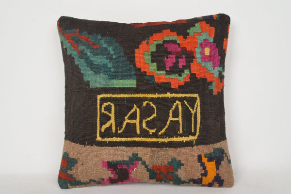 Kilim Print Pillow C00172 18x18 Handwoven Embroidery Comfortable