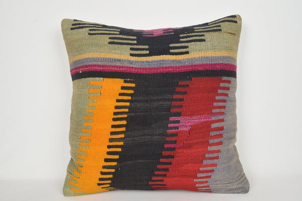 Dorma Kilim Cushion A00172 24x24 Strong Southern Turkish Home Soft