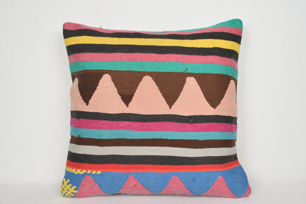 Turkish Kilim Cushions A00173 24x24 Luxury Handmade African Urban