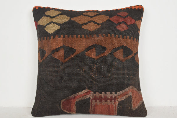 Crate and Barrel Kilim Rug Pillow B00174 20x20 Old Rare Knitting