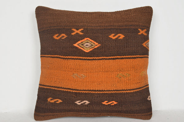Kilim Pillow Living Room D00577 16x16 Traditional Seat Salon