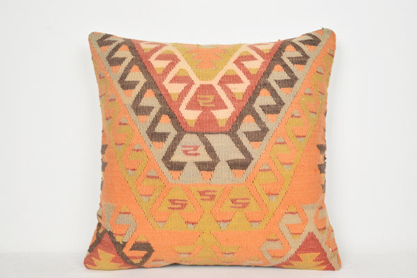 Rose Kilim Cushions A00077 24x24 Low-priced Organic Tapestry Middle East