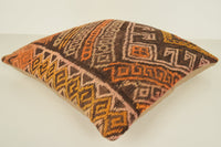 Kilim Pillows Cleaning C01077 18x18 Woollen Economic Tuscan