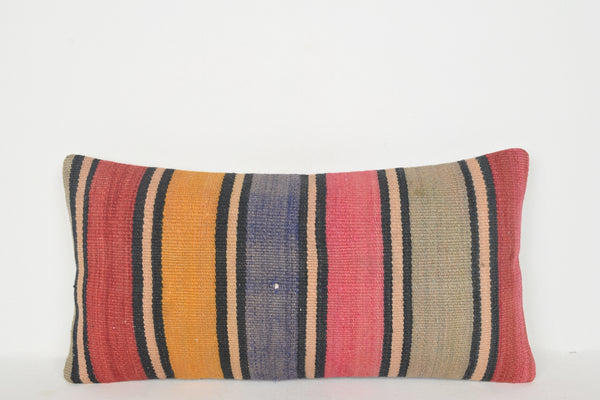Kilim Rugs Online South Africa Pillow F01278 Lumbar Handknit Tropical