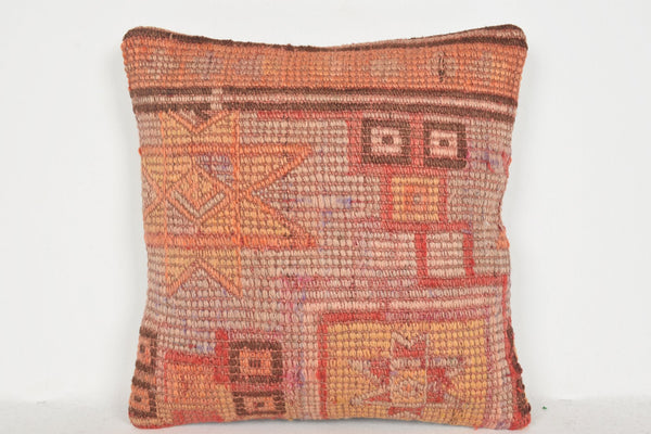 Vintage Kilim Rugs USA Pillow D01180 16x16 Folk Beautiful Personal