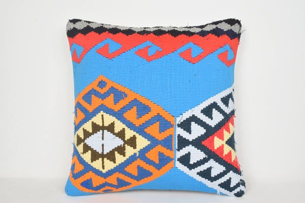 Blue Turkish Rug Pillow A00081 24x24 Christmas Woollen Geographical