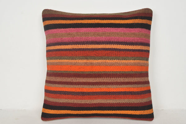 Long Kilim Cushion B01283 20x20 Knotted Middle East Knit