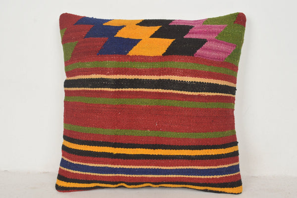 Turkish Embroidered Cushion Covers C00783 18x18 Woolen Patio Soft