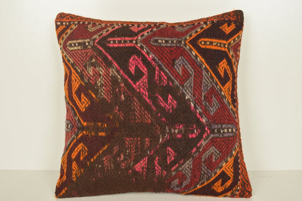 Traditional Turkish Pillow C01083 18x18 Antique Homemade Right